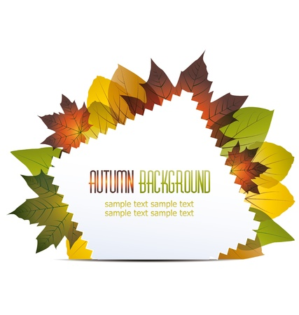 abstract background with autumn leaves Stock Vector - 14439408