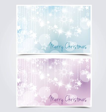 The cards abstract background with a winter theme Stock Vector - 14439412