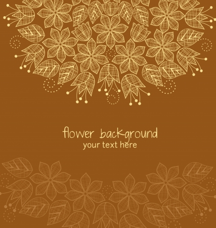 textile decoration flowers in the background Illustration
