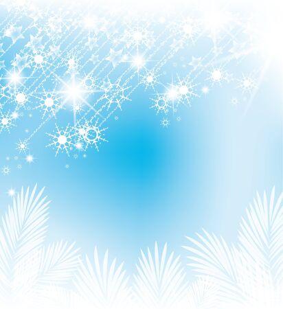 snow flakes: abstracte achtergrond met vallende sneeuwvlokken Stock Illustratie