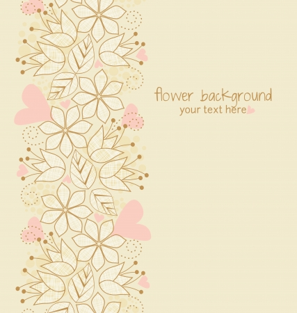 Beautiful floral illustration on light brown background Vector