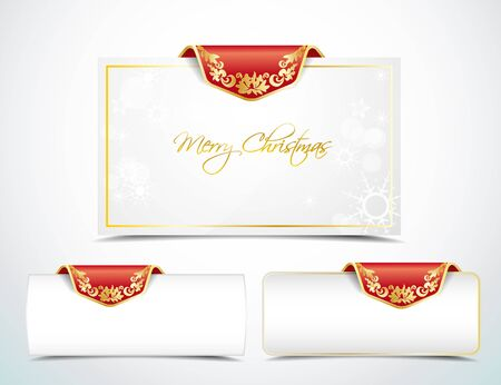 Christmas banners and card in the background Vector