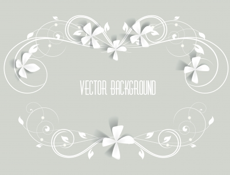 wedding frame: floral frame on a gray background