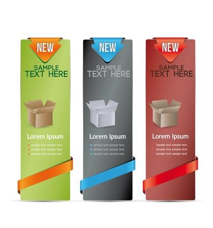 vertical banner: vertical color banner for product description Illustration