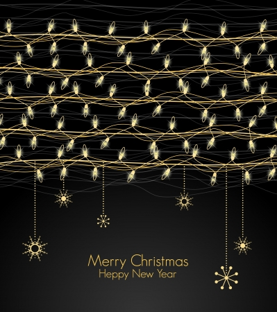 Background with Christmas lights for the new year  Vector