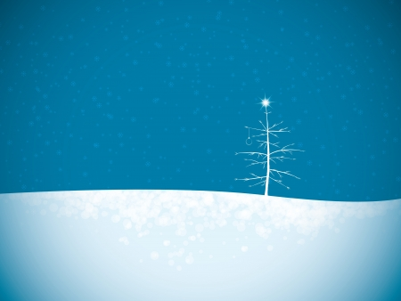 Christmas winter landscape with place for text Stock Vector - 15047354