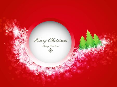 Red Christmas background with space for text  Stock Vector - 15047345