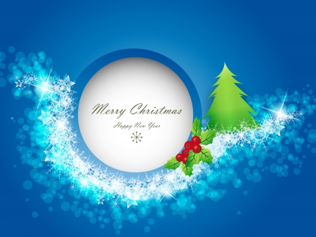 Blue Christmas background with space for text Stock Vector - 15047366