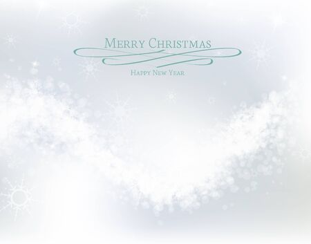 Abstract Christmas background with white snowflakes  Stock Vector - 15047358