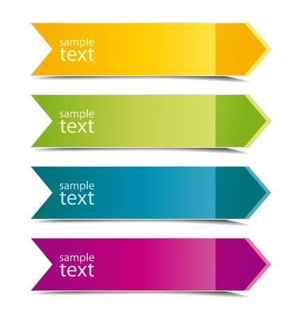 directions: Het verzamelen van kleur pijlen met plaats voor tekst
