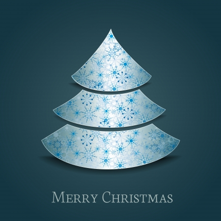 Christmas tree on a dark background Vector