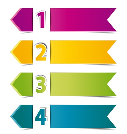 Design template numbered banners Vector