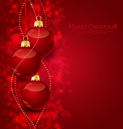 christmas baubles of modern design: Background with stars and Christmas balls, illustration  Illustration