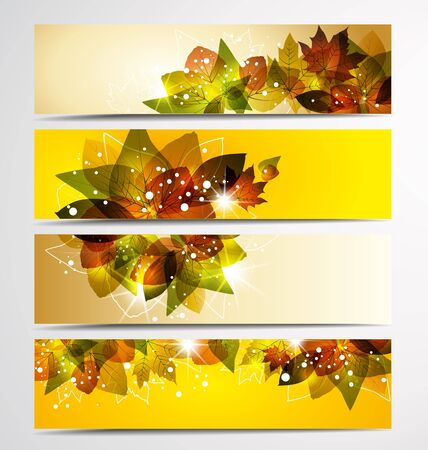 Set of 4 different autumn Stock Vector - 15451375