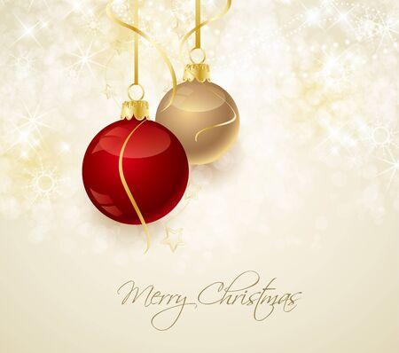 Christmas background with stars and Christmas balls Stock Vector - 15538438