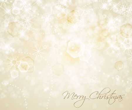 Abstract Christmas background with white snowflakes  Stock Vector - 15538441