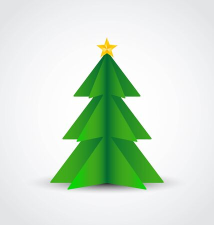 Christmas tree made of paper Stock Vector - 15658651