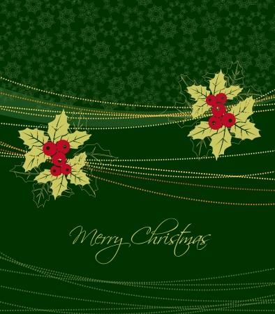 Background with mistletoe Vector