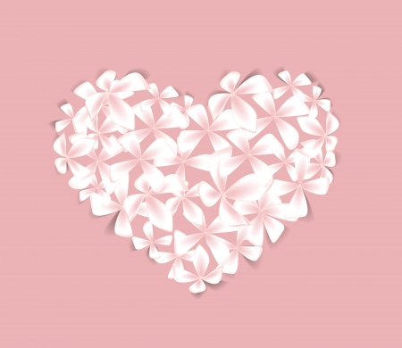 Beautiful  floral heart on a pink background Stock Vector - 15814996