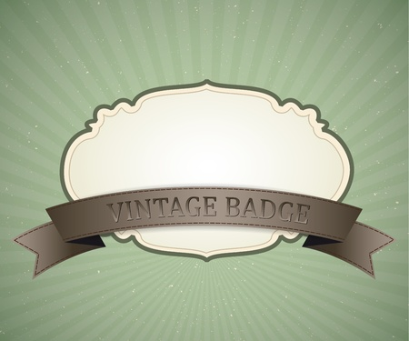 badge vector vintage design, retro background Vector