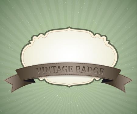 insignia del dise�o del vector vintage, retro fondo