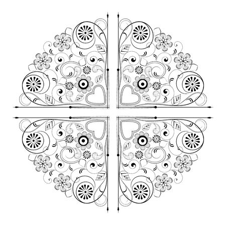 ornament with flowers on a white background. Element for design Stock Vector - 16123465