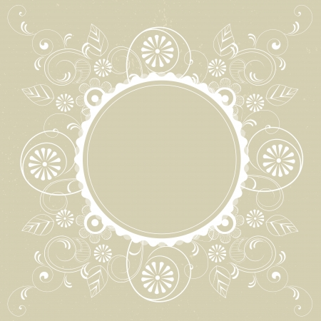 Frame with floral design on a light background Stock Vector - 16123466