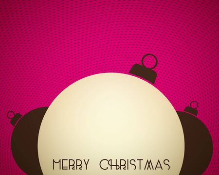 Background with christmas balls with place for text on it Stock Vector - 16123468