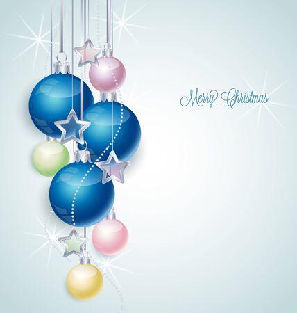 Christmas background with stars and Christmas balls Stock Vector - 16123473