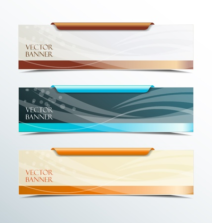 set of colorful vector banners  Stock Vector - 16246259