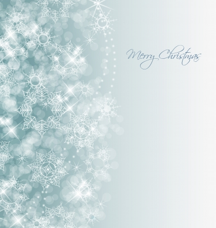 abstract Christmas background with white snowflakes Stock Vector - 16246260