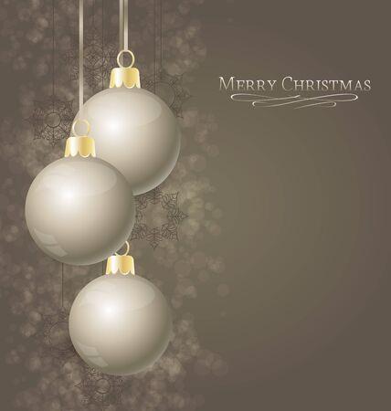 Elegant Christmas background with Christmas balls Stock Vector - 16383430