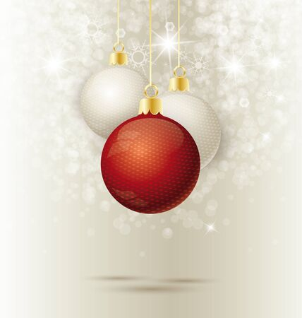Background with Christmas ball and snowflakes, illustration Stock Vector - 16383434