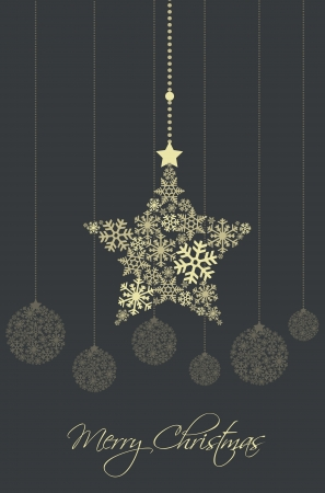 Christmas ornaments made from snowflakes  illustration Stock Vector - 16383433