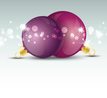Background with Christmas ball and snowflakes Stock Vector - 16383455