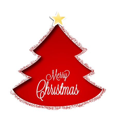 Christmas tree on a white background Stock Vector - 16383462