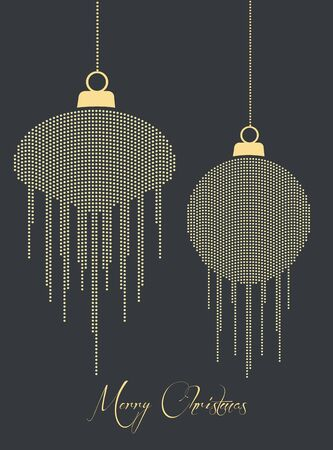 Christmas balls made with dots on a dark background Stock Vector - 16541482