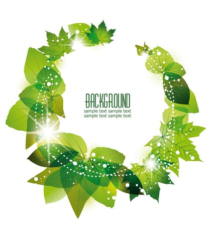 green leaves on a white background Stock Vector - 16700731