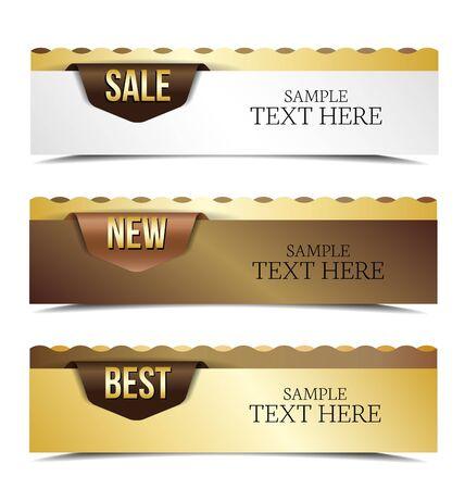 Vintage banners retro style set. Vector design elements. Stock Vector - 16730678