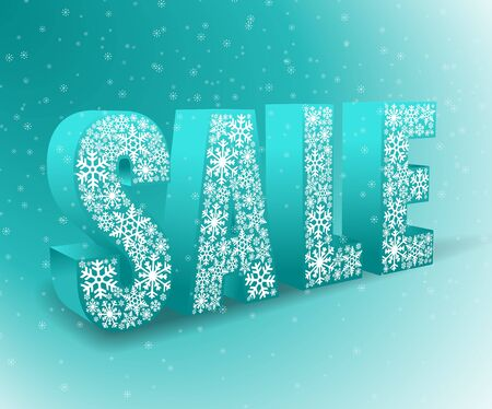 blue background for winter sale Vector