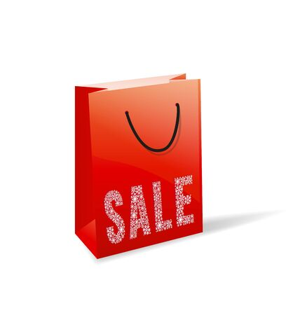 red paper bag for sale Stock Vector - 16730680