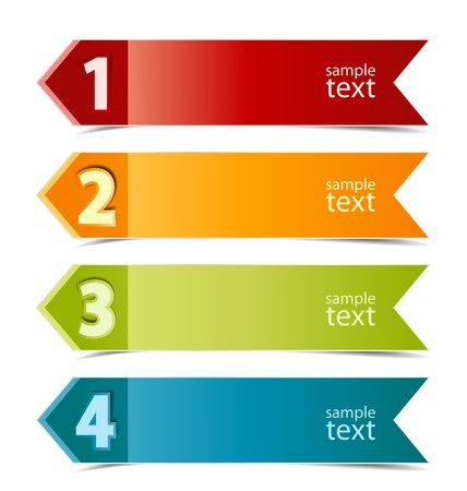 Design template numbered banners