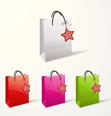 Set of different paper bags  Vector