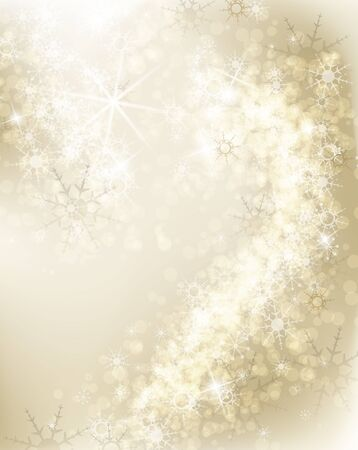 Abstract Christmas background with white snowflakes  Stock Vector - 16798373