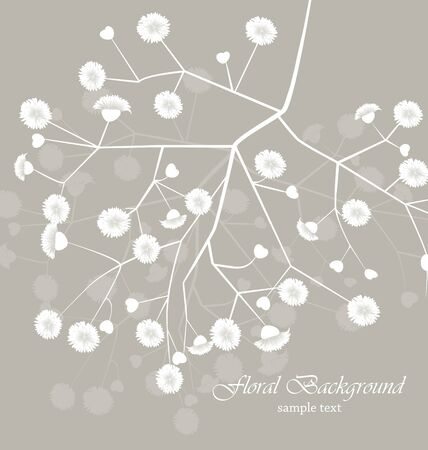 flowers on gray background with place for text Stock Vector - 16866340