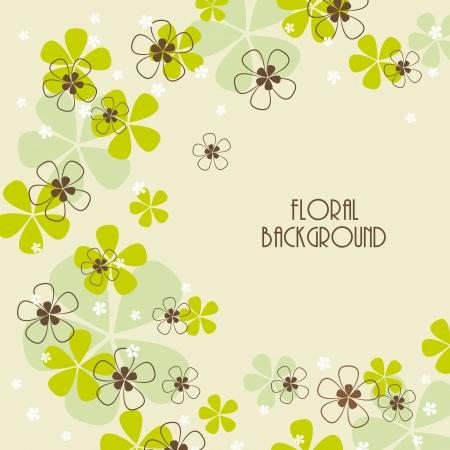 floral background, greeting card Иллюстрация