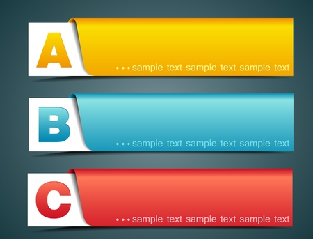 version: Colorful options banner template, illustration