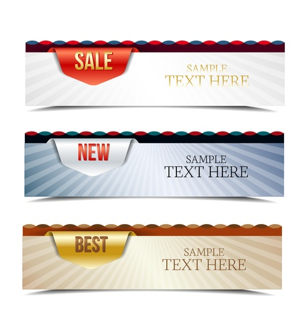Set of colorful retro horizontal banners Stock Vector - 17081257