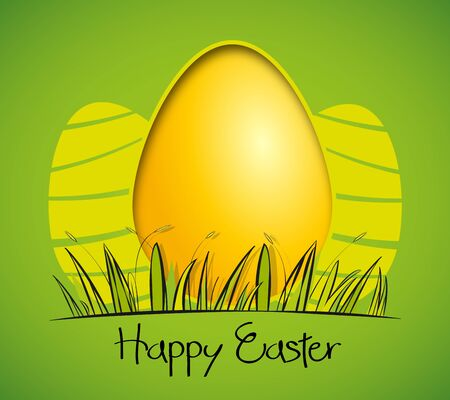 easter background with eggs illustration Stock Vector - 17081256