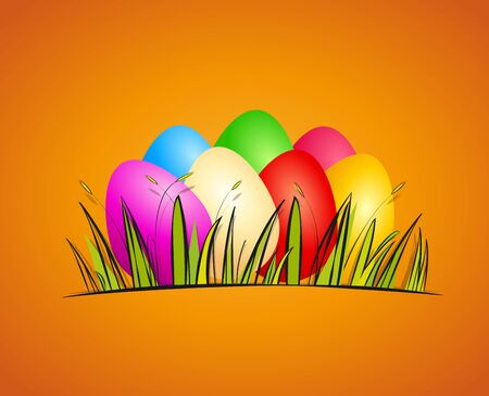 Easter background with eggs illustration Stock Vector - 17081259